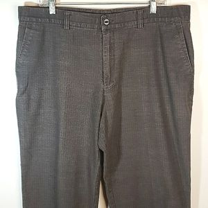 Gucci Vintage Grand Fly Mens Brown Check Weave Pants